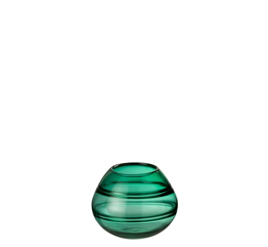 Vaas Bol Gestreept Transparant - Groen