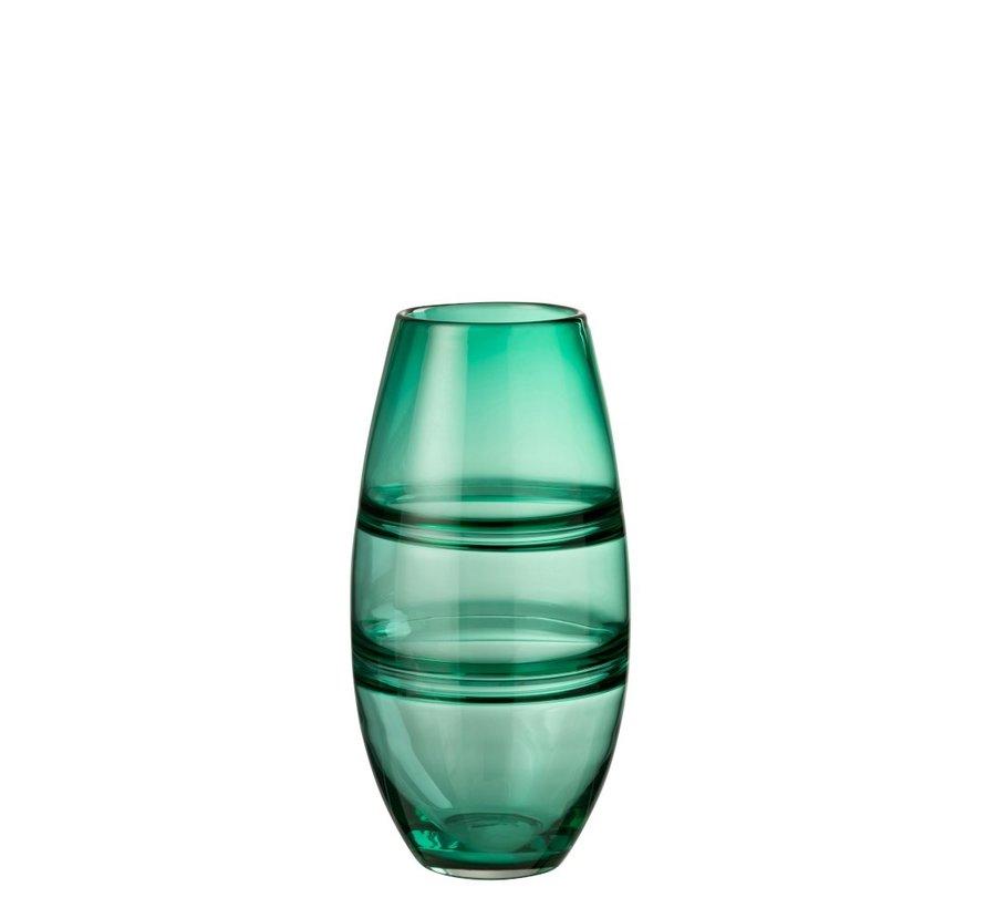 Vaas Cilinder Gestreept Transparant Groen - Large