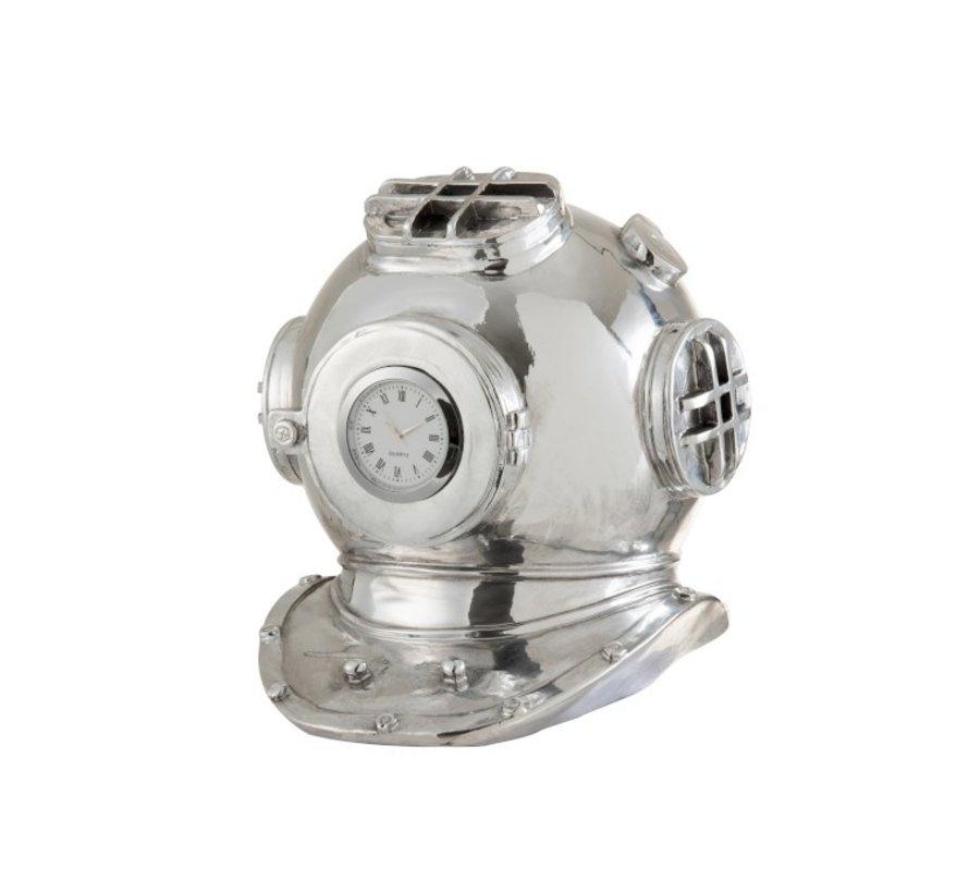 Decoratieve Duikershelm Klok Polyester - Zilver
