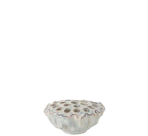 J -Line Decorative Anemone Ceramic Soft - Blue