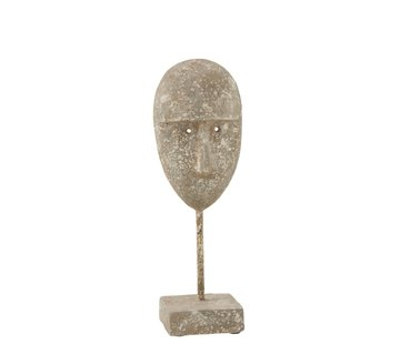 J -Line Decoration Face On Foot Cement Gray Beige - Large