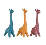 J -Line Decoratie Giraffen Porselein Blauw Oranje - Roze