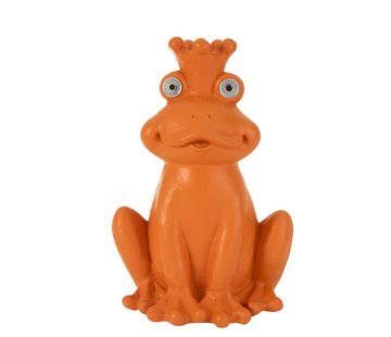 J -Line Decoration Frog Solar Polyester Bright - Orange