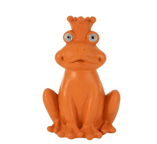 J -Line Decoration Frog Solar Polyester Bright - Orange