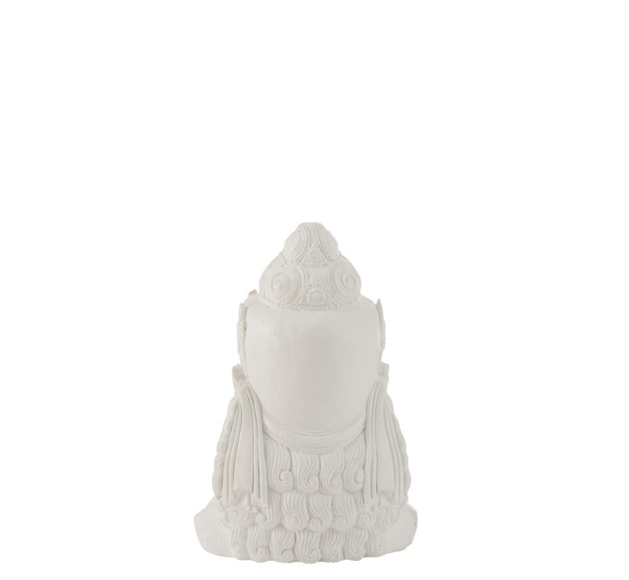 Decoration Buddha Head Magnesium White - Small