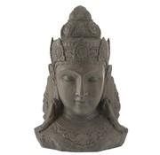J-Line  Decoration Buddha Head Magnesium Gray - Large