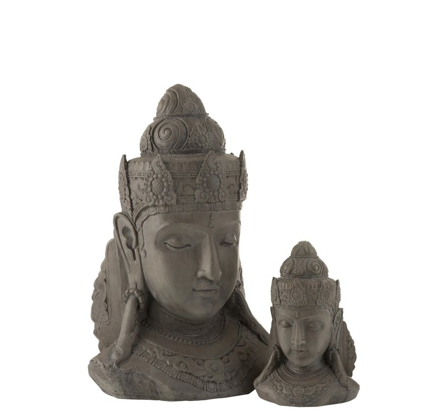 Decoration Buddha Head Magnesium Gray - Large