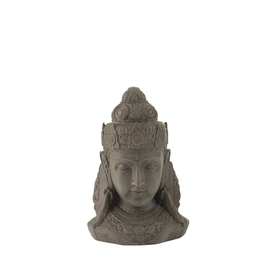 Decoration Buddha Head Magnesium Gray - Small