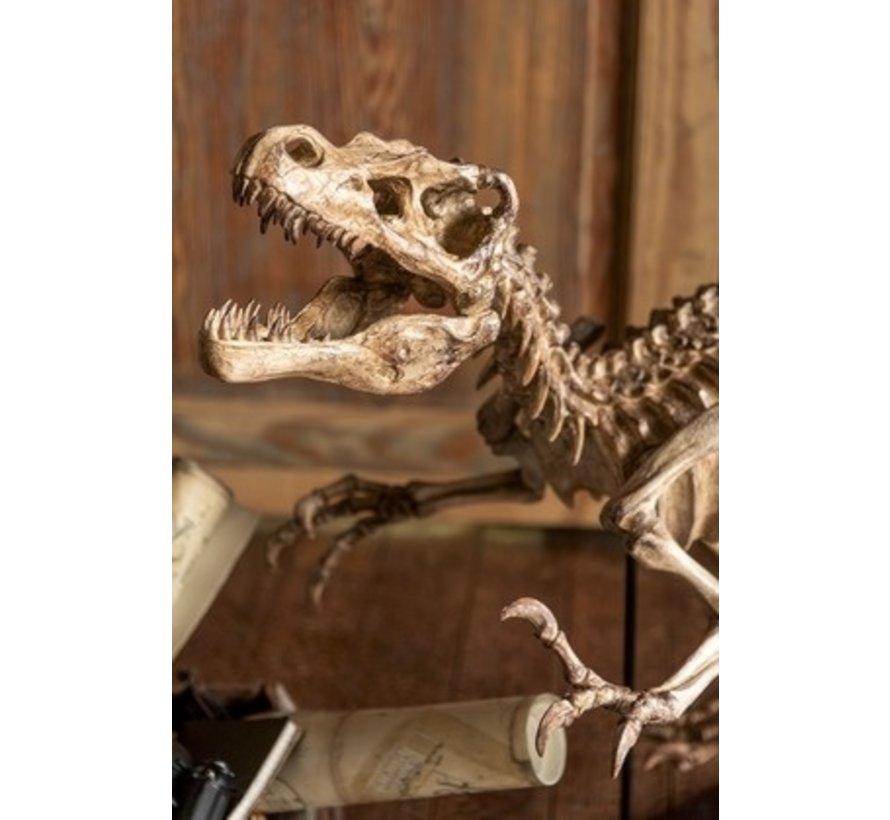Decoration Dinosaur Raptor On Foot Poly - Light Brown