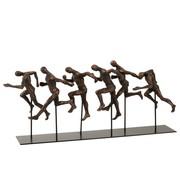 J-Line  Decoration Running Athletes Poly Brown - Black