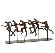 J -Line Decoration Running Athletes Poly Brown - Black