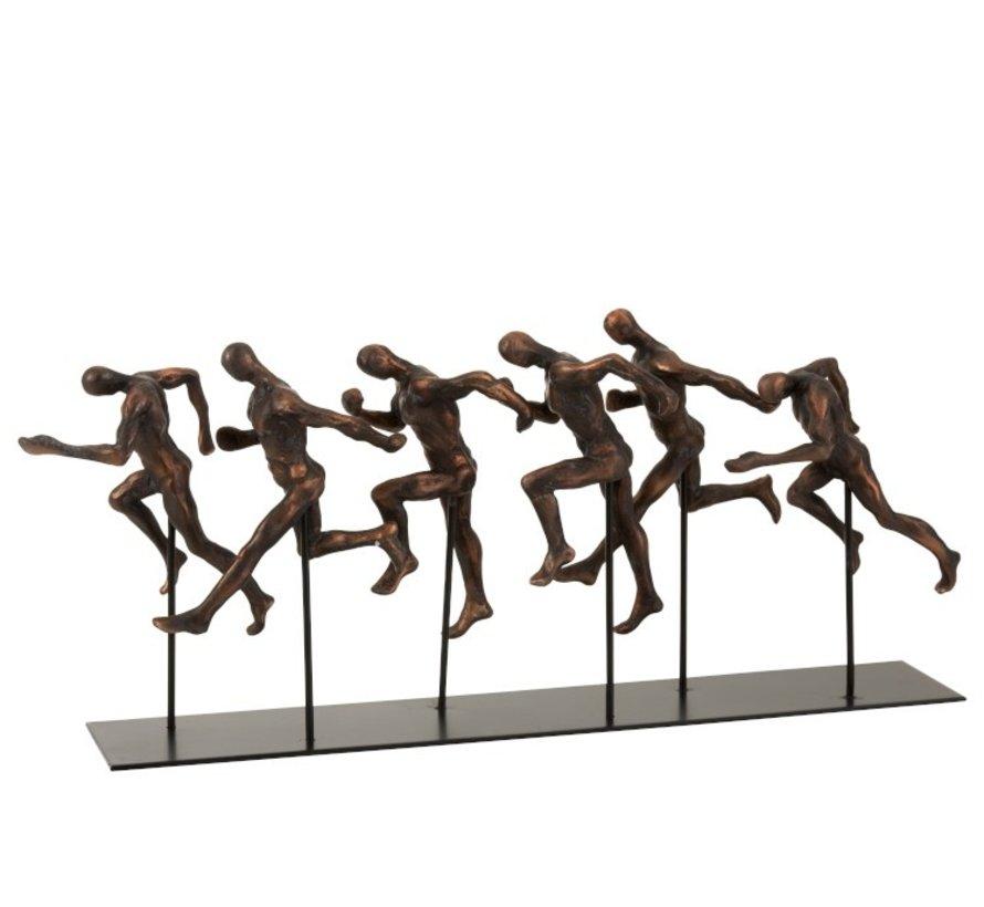 Decoration Running Athletes Poly Brown - Black