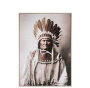 J -Line Wall Decoration Frame Canvas Native American Brown - Beige