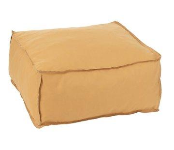 J -Line Pouf Square Soft Polyester Plain - Ocher