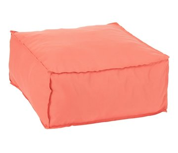 J -Line Pouf Square Soft Polyester Plain - Orange