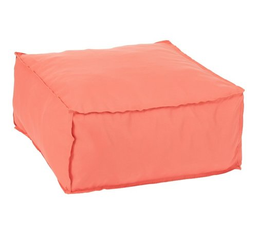 J -Line Poef Vierkant Zacht Polyester Effen - Oranje