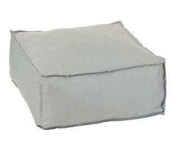J -Line Pouf Square Soft Polyester Plain - Gray
