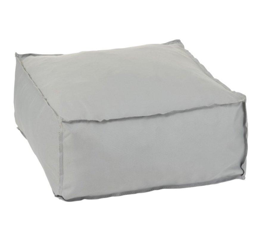 Pouf Square Soft Polyester Plain - Gray
