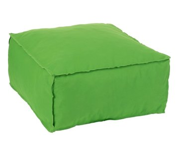 J -Line Pouf Square Soft Polyester Plain - Green