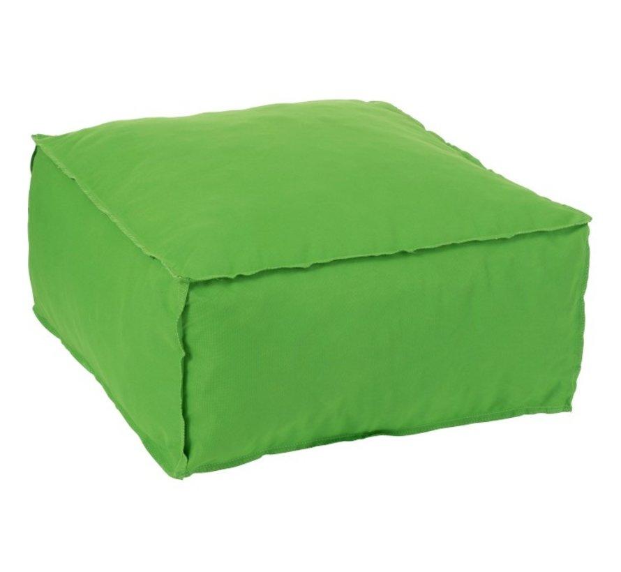 Poef Vierkant Zacht Polyester Effen - Groen