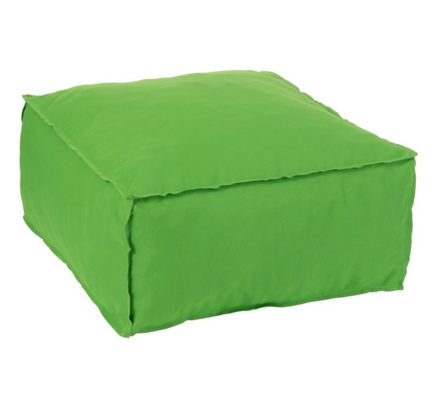 Pouf Square Soft Polyester Plain - Green