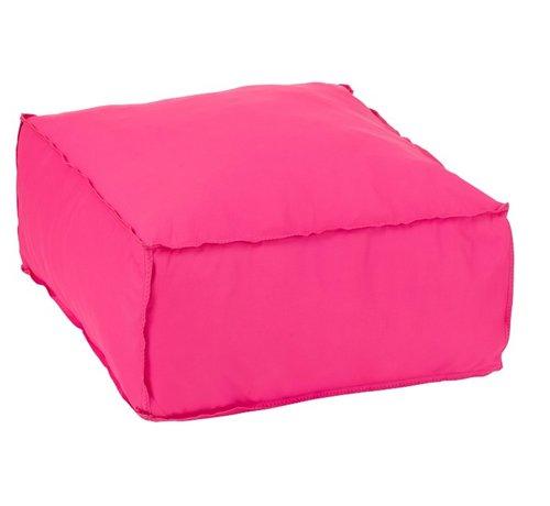J -Line Pouf Square Soft Polyester Plain - Pink