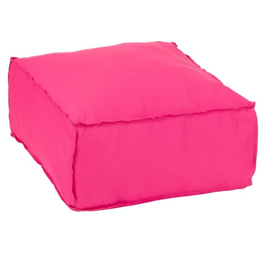 Pouf Square Soft Polyester Plain - Pink