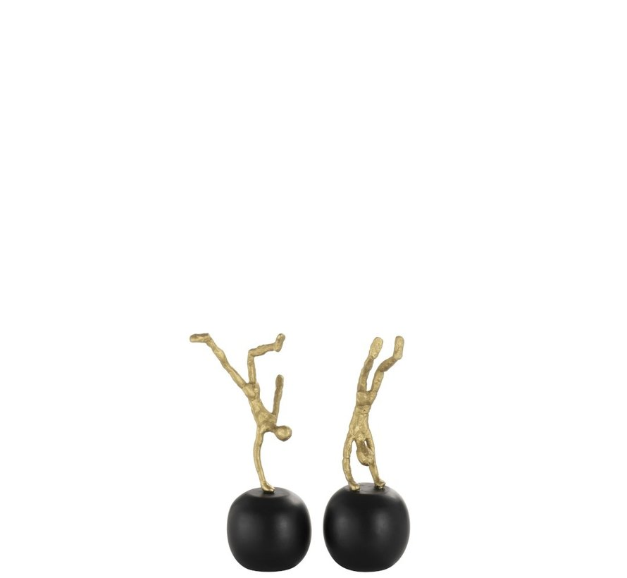 Decoration figures Headstand On Globe Black - Gold