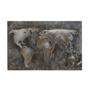 J-Line Wall decoration Painting Abstract World Gray - Brown