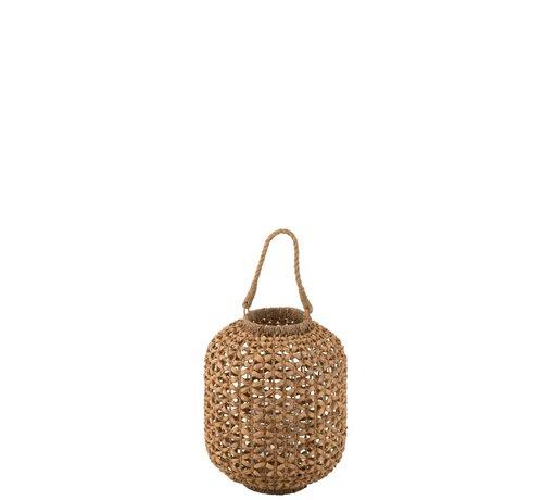 J-Line  Lantaarn Bamboo Cilinder Natuurlijk Bruin - Small