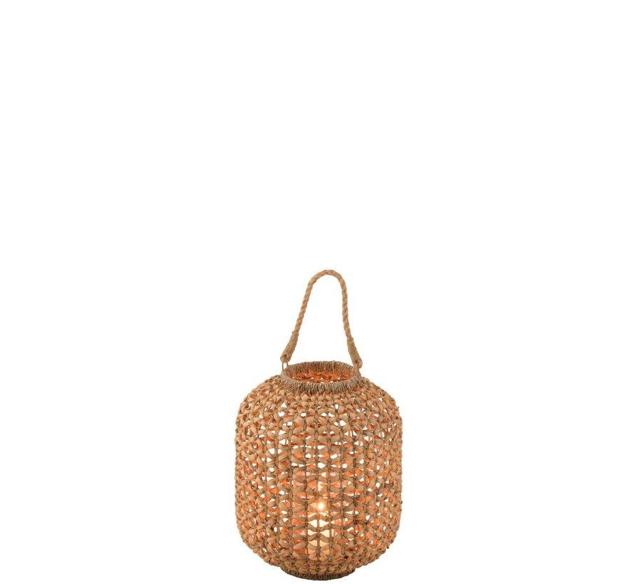 Lantaarn Bamboo Cilinder Natuurlijk Bruin - Small