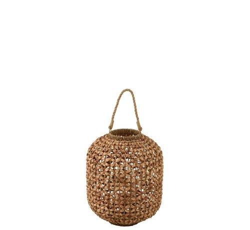 J-Line  Lantaarn Bamboo Cilinder Natuurlijk Bruin - Medium