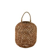 J -Line Lantern Bamboo Cylinder Natural Brown - Large