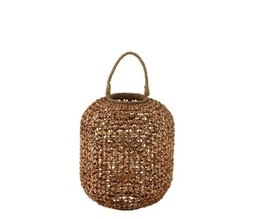 J-Line Lantern Bamboo Cylinder Natural Brown - Large
