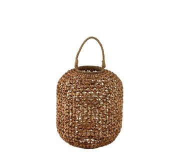 J -Line Lantern Bamboo Cylinder Natural Brown - Large