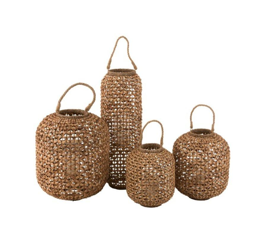 Lantern Bamboo Cylinder Natural Brown - Large