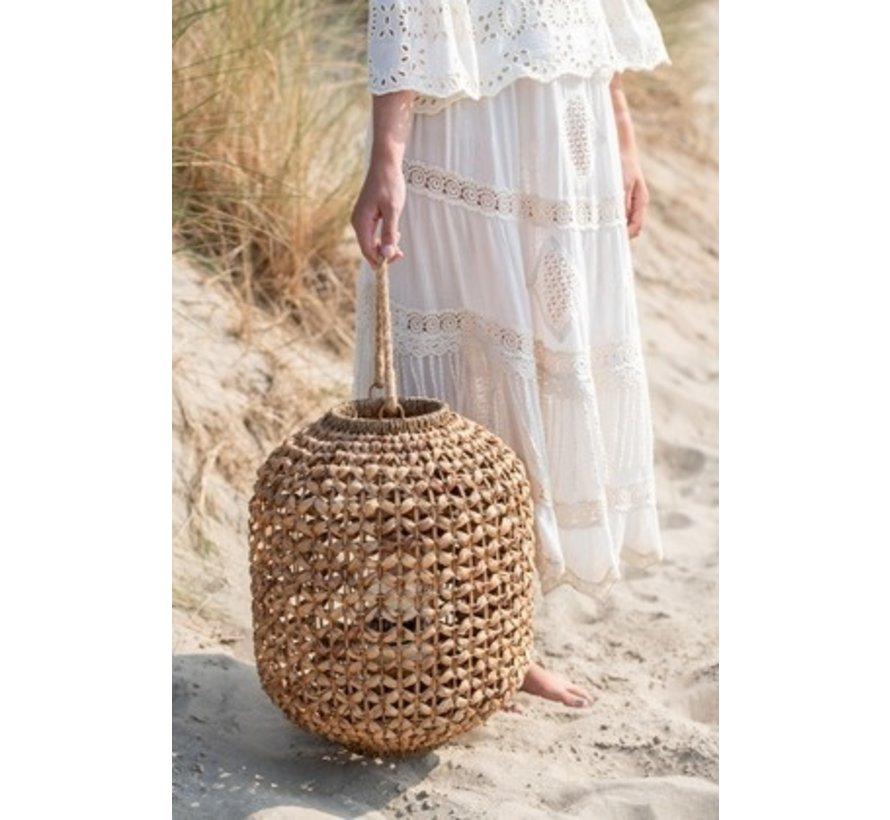 Lantaarn Bamboo Cilinder Natuurlijk Bruin - Large