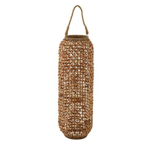 J -Line Lantern Bamboo Cylinder High Natural Brown - Large