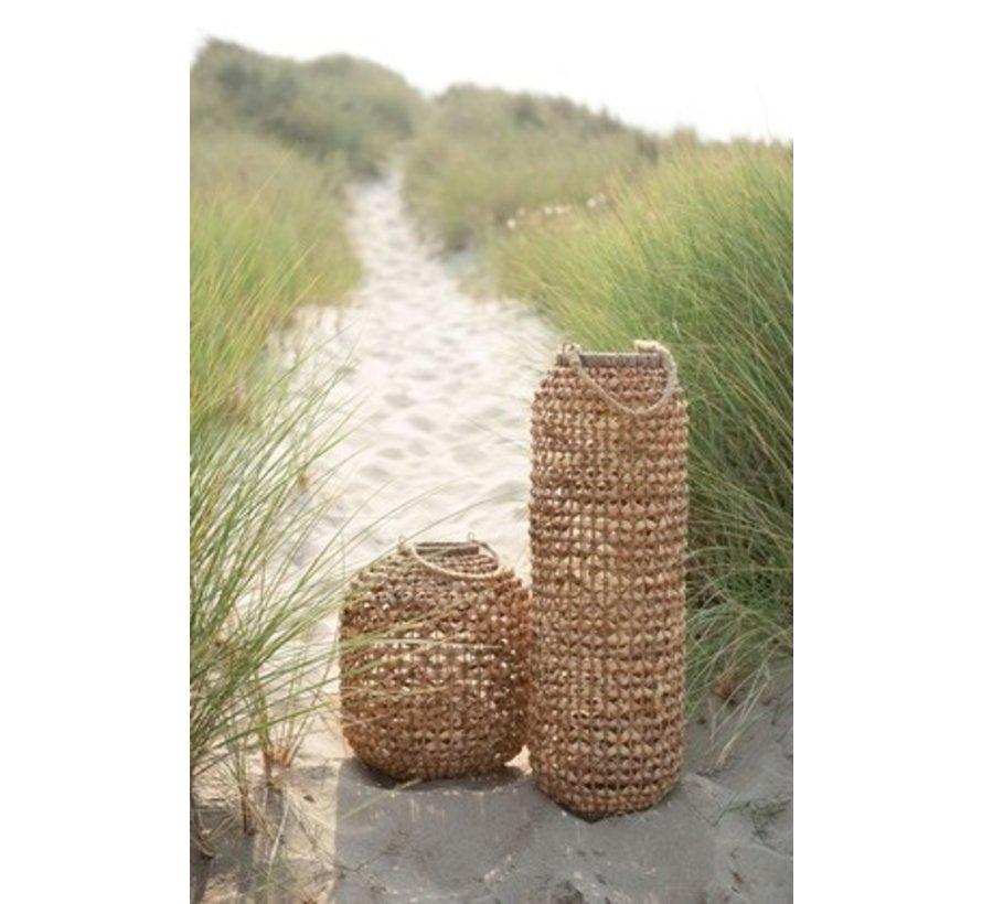Lantern Bamboo Cylinder High Natural Brown - Large
