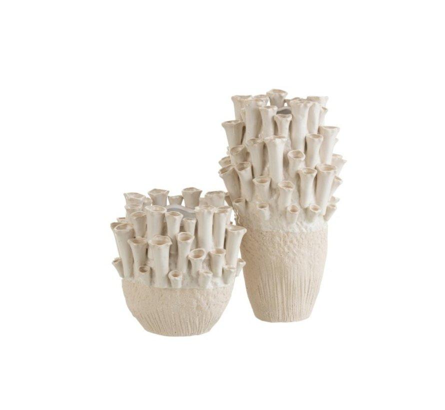 Vase Ceramic Ball Anemone Beige - Small