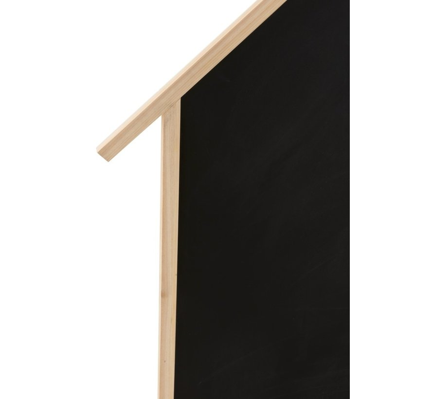 Decoration Chalkboard House Pine Wood Brown - Black