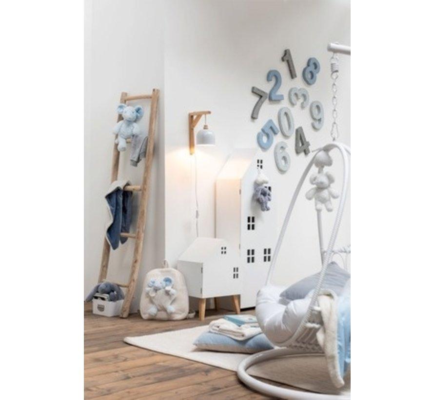 Decoration Ladder Smooth Wood Five Steps - White wash