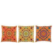 J-Line Cushion Square cotton Oriental Patterns Mix - Colors