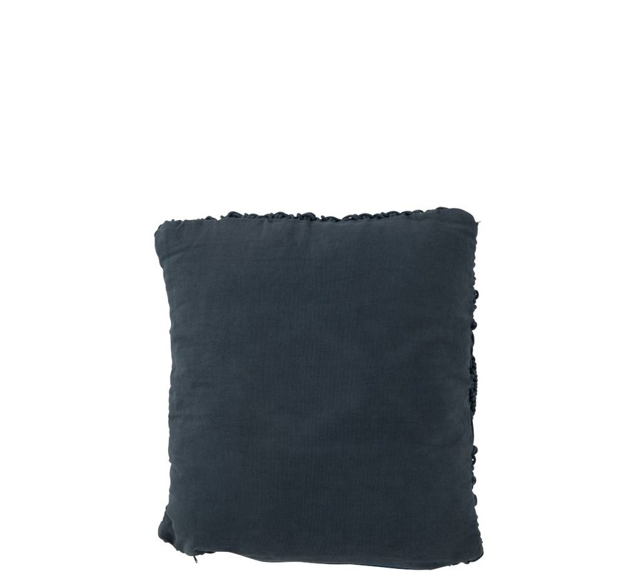 Cushions Square Cotton Handicraft - Dark Blue