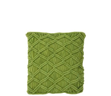 J -Line Cushions Square Cotton Handicraft - Green