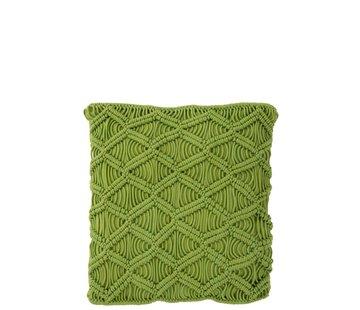 J -Line Kussens Vierkant Katoen Handwerk - Groen