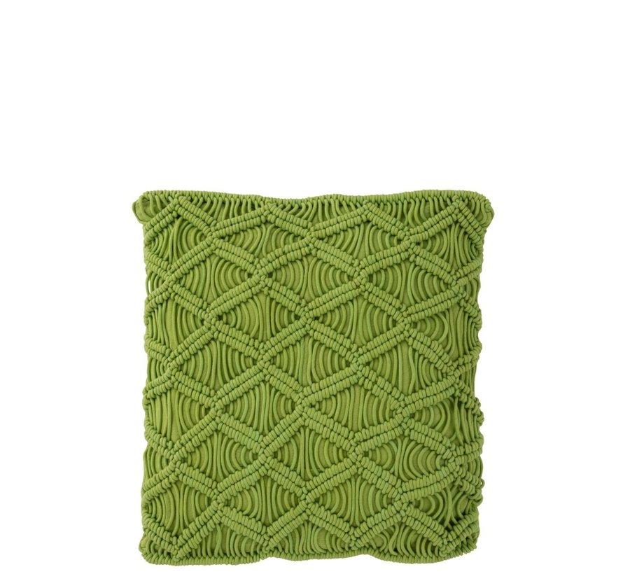 Kussens Vierkant Katoen Handwerk - Groen