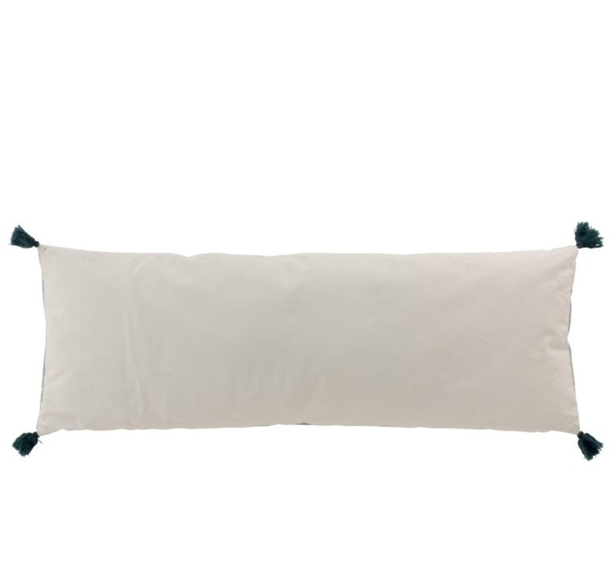 Cushion Rectangle Cotton Aztec Patterns Light Blue - White