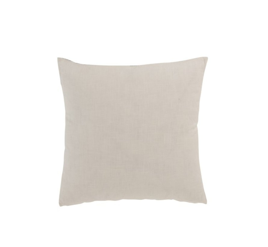 Pillow Square Cotton Aztec Patterns Stripe Blue - White