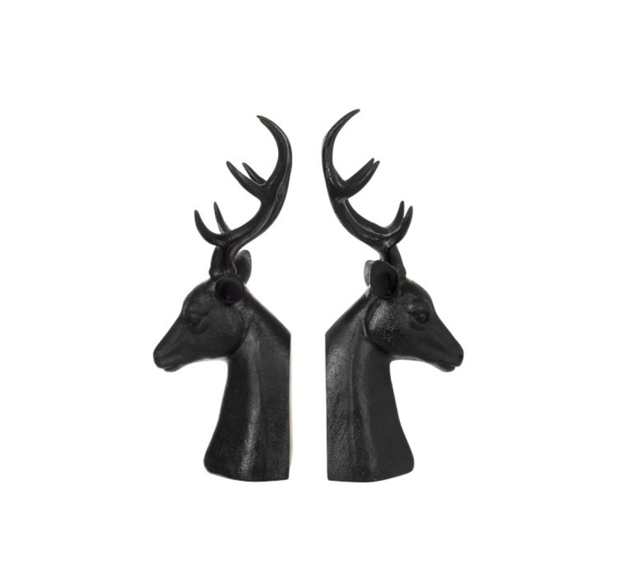 Decorative Bookends Red Deer Poly - Dark Brown